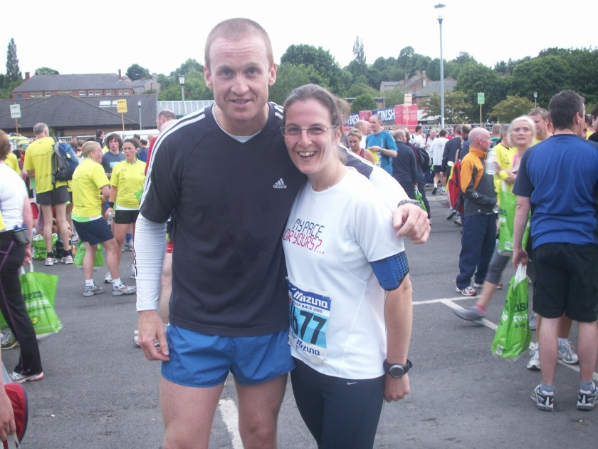 Not my unknown race buddy, but the man responsible for getting me running - Ian Turrell