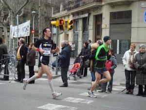 Runners in the Barcelona marathon