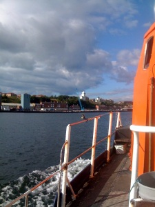 Fishing boat heading out on the Tyne