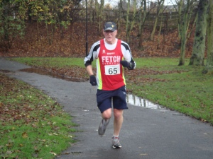 Alastair (Scotty) on his way to a marathon PB