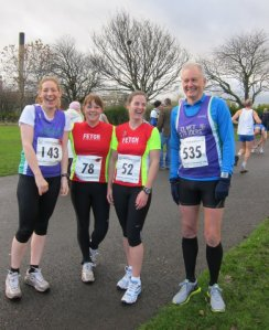 Me and some friends at the start of the race