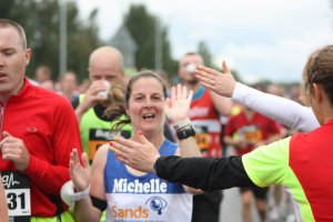Me running through Fetchppint at the Great North Run