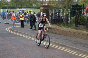 Me on my bike at Ashington triathlon 2011