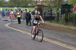 Me on my bike at Ashington triathlon 2011