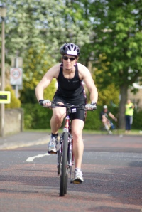 On my bike at the Ashington triathlon 2011