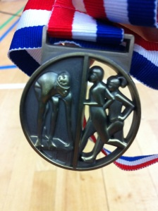My medal from Killingworth aquathlon