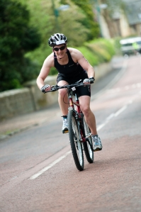 Me on my bike at Ashington triathlon