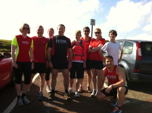 Group in running gear