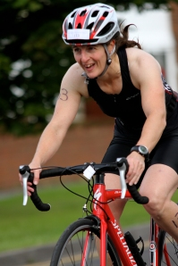 Me on my bike at Hebbur triathlon