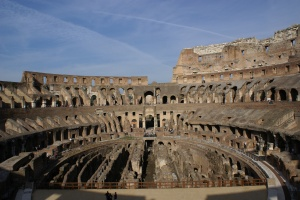 View inside the Colosseum