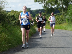 Me running the Jelly Tea 10 mile race