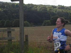 Me running in the Tynedale Jelly T 10 mile race