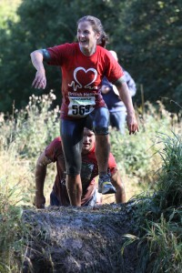 Me getting muddy on the Newcastle Stampede
