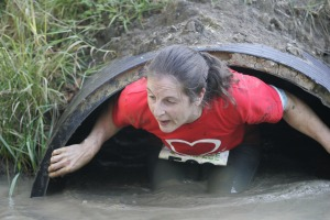 Me emerging from one of the tunnels