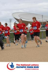 On the route of the Olympic Park Run
