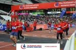 Finish line of the Olympic Park Run