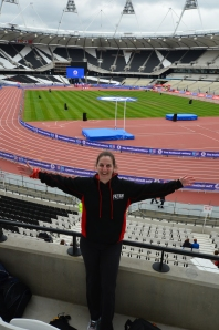 Me in the Olympic Stadium