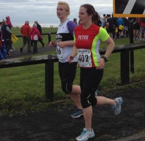 Me and Danielle at the North Tyneside 10k