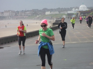 Runners on the promenade at Whitley Bay