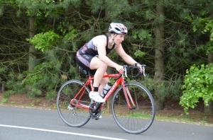 Me on the bike course at QE2 sprint triathlon