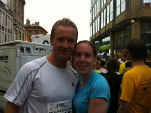 Ian and Kelda with Tony the Fridge in the background at the start