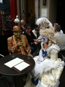 Living statues at Edinburgh Festival