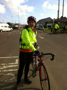 Me and my bike at the start of the Great North Bike ride