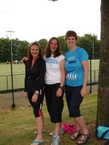 Lesley, me and Jane at the finish of Haddington triathlon