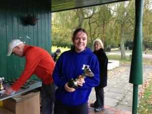 Ann Hood ladies winner Town Moor marathon 2012