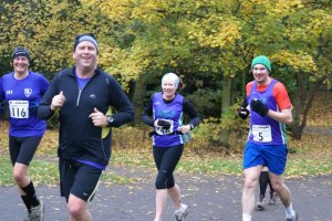 Elvet Striders on the Town Moor marathon