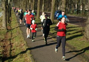 Runners at Newcastle parkrun