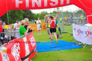 Bouncing over the finish line - photo curtesy of Bob Marshall