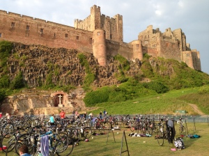 Transition area in the grounds of Bamburgh Castle
