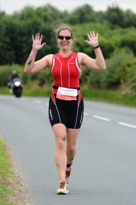 Me running at Allerthorpe classic triathlon
