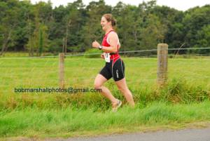 Me on the run at Haddington tri