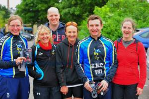 Triathletes at Haddington tri