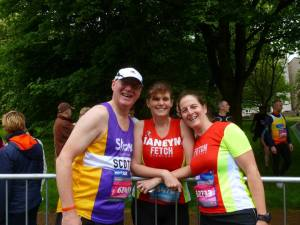Scotty, Janey and me at Edinburgh 10k