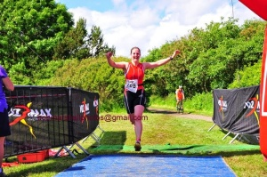 Finish at Northumberland triathlon