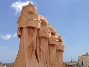 Chimney pots at La Pedrera