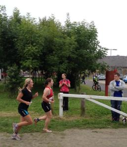 Me on the run at the Newcastle Woodhorn triathlon