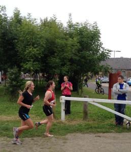 Me on the run at the Newcastle Woodhorn triathlon