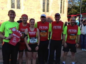 Fetchies at the start of the Great North Run