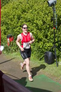 Me Running at the Northumberland Standard triathlon in 2014