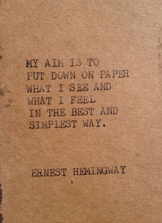 Advice on writing from Ernest Hemingway