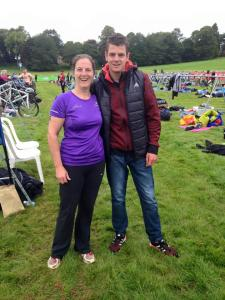Me and Jonny Brownlee at the Brownlee tri