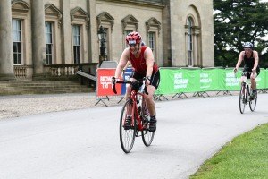 Me on the bike at the Brownlee triathlon 2015
