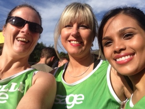 Team Sage ladies at the start of Great North Run 2015