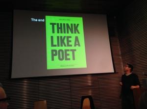 Think like a poet