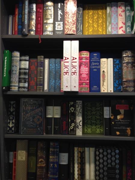 Bookshelf full of classics