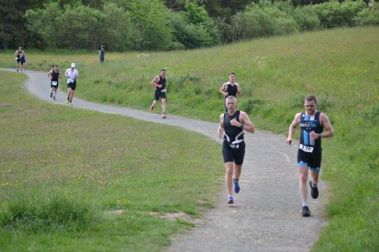 Competitors at the Northumberland triathlon - photo by Sports Photography Northumberland